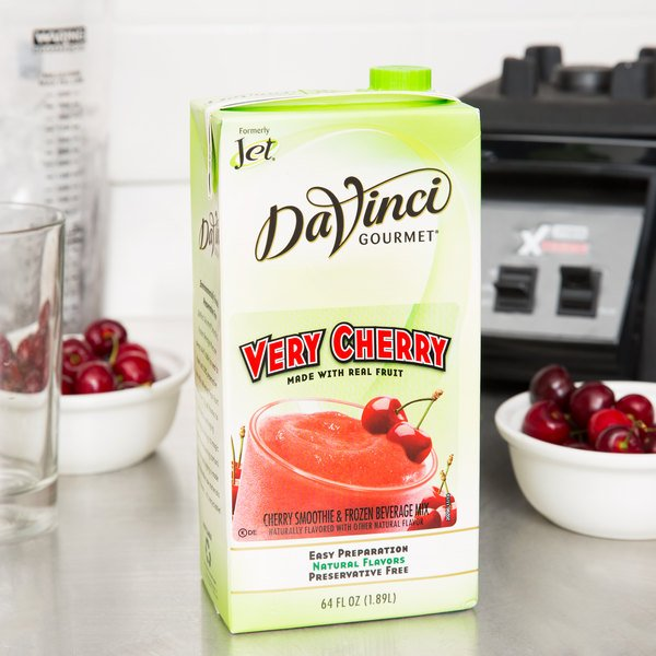 DaVinci Gourmet Very Cherry Real Fruit Smoothie Mix - 64 oz.