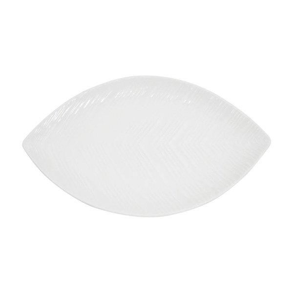 CAC LFD-12 Bone White Porcelain Leaf Dish - 12/Case