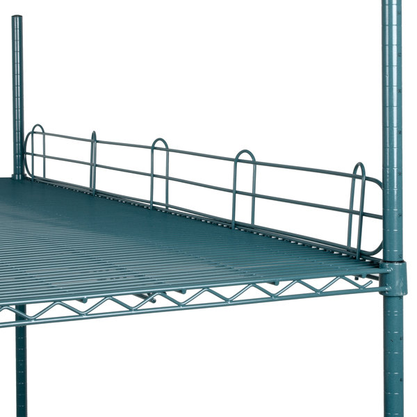 "Regency 60"" Green Epoxy Wire Shelf Ledge for Wire Shelving - 60"" x 4"" Main Image 2"