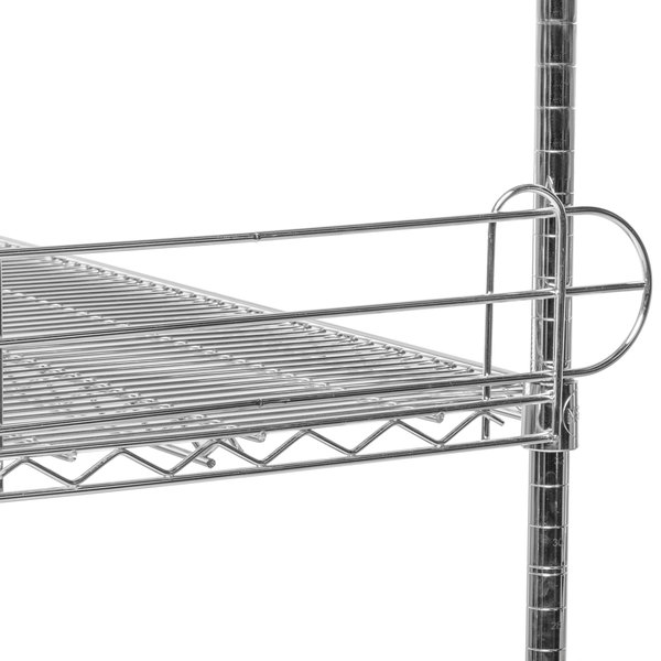 "Regency 24"" Chrome Wire Shelf Ledge for Wire Shelving - 24"" x 4"""