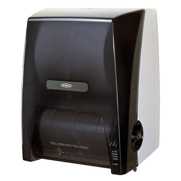 "Bobrick B-72860 Surface Mounted Touch-Free Paper Towel Dispenser for 8"" Diameter Rolls - 12 1/2"" x 15 1/2"" x 9 1/2"""