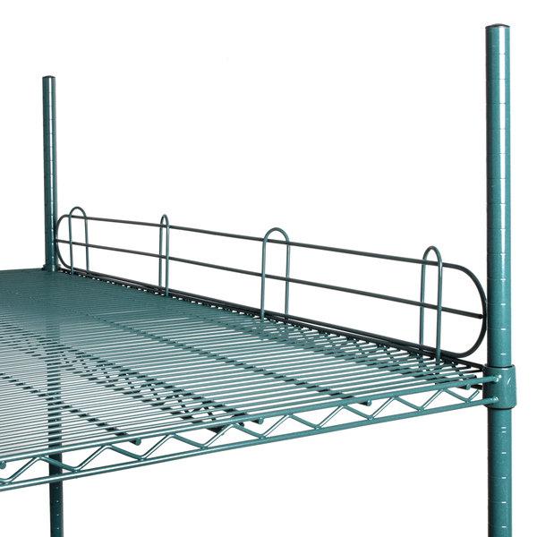 """Regency 48"""" Green Epoxy Wire Shelf Ledge for Wire Shelving - 48"""" x 4"""""""