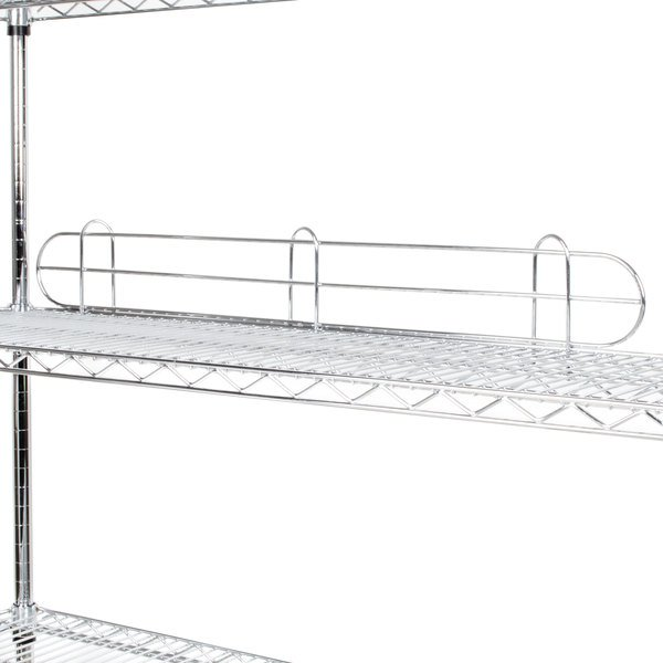 regency 36 chrome wire shelf ledge for wire shelving 36 x 4 - Chrome Wire Shelving