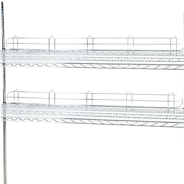 "Regency 60"" Chrome Wire Shelf Ledge for Wire Shelving - 60"" x 4"" Main Image 2"
