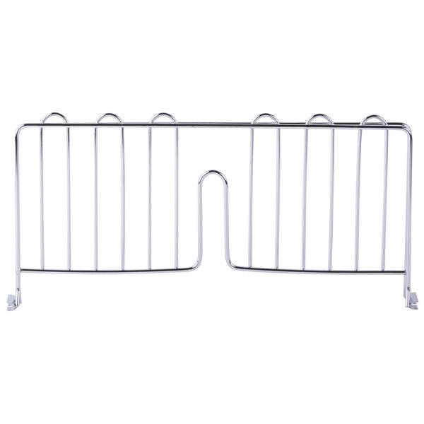 "Regency 18"" Chrome Wire Shelf Divider for Wire Shelving - 18"" x 8"""