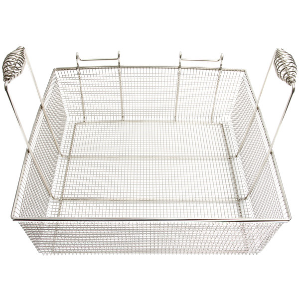 """Frymaster 8030148 17 1/2"""" x 16 3/4"""" x 5 3/4"""" Full Size Fryer Basket"""