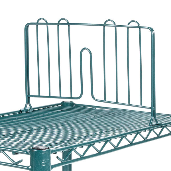 Dividers For Wire Shelving | Regency 14 Green Epoxy Wire Shelf Divider For Wire Shelving 14 X 8