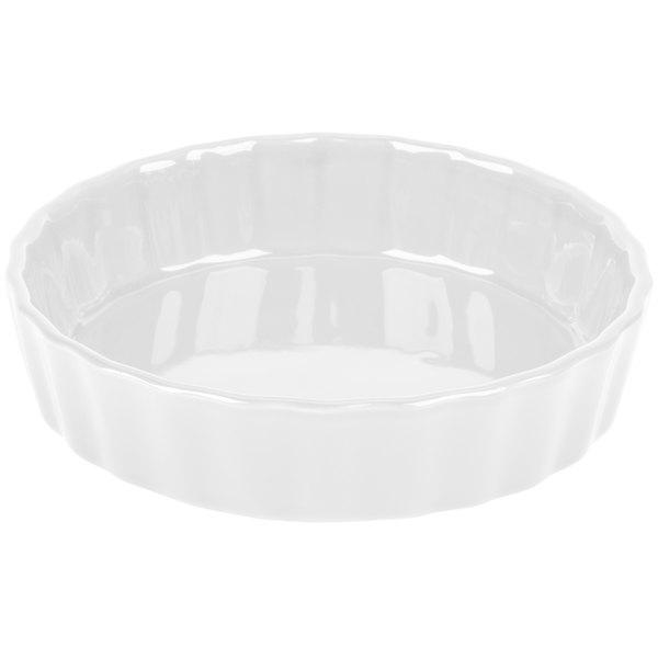 "CAC QCD-5 Festiware 5"" Super White Fluted China Quiche Dish - 24/Case Main Image 1"