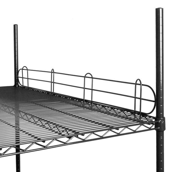 "Regency 48"" Black Epoxy Wire Shelf Ledge for Wire Shelving - 48"" x 4"" Main Image 2"
