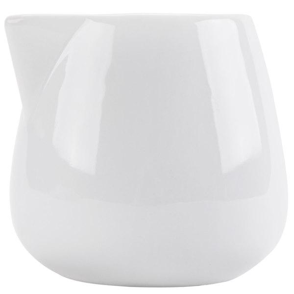 CAC PC-204 Bright White Porcelain 4 oz. Creamer - 36/Case