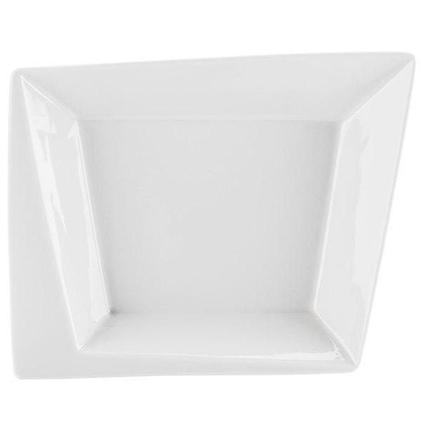 CAC KSE-B309 Bright White 24 oz. Square Bowl with Rim - 12/Case