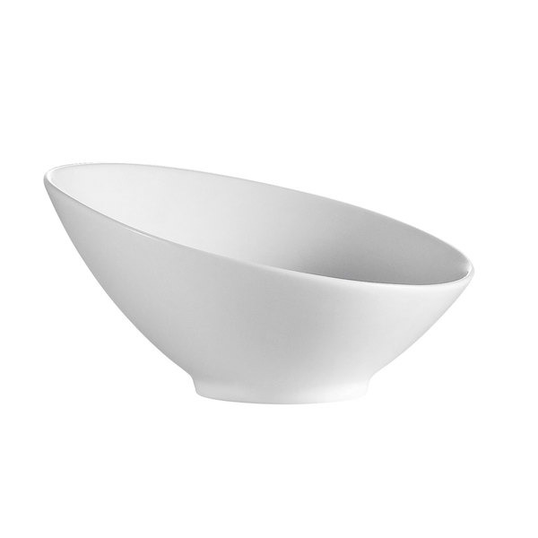 CAC SHER-B5 Sheer 8 oz. Bone White Porcelain Salad Bowl - 36/Case Main Image 1