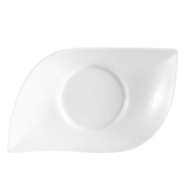 """CAC COL-61 Fashion 16"""" Bright White Porcelain Eye Bowl - 8/Case"""