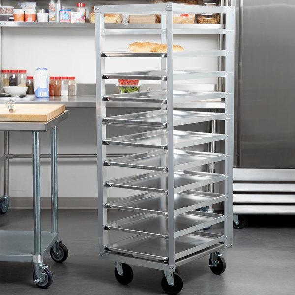 Metro RF23N 11 Pan End Load Aluminum Roll-In Refrigerator Rack Main Image 3
