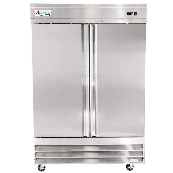 """Avantco CFD-2FF 54"""" Two Section Solid Door Reach in Freezer"""