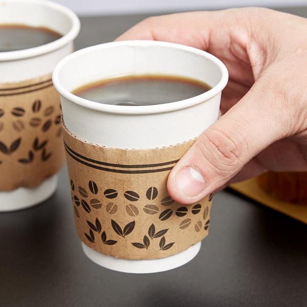 choice 8 oz printed coffee cup sleeve jacket clutch 50 pack