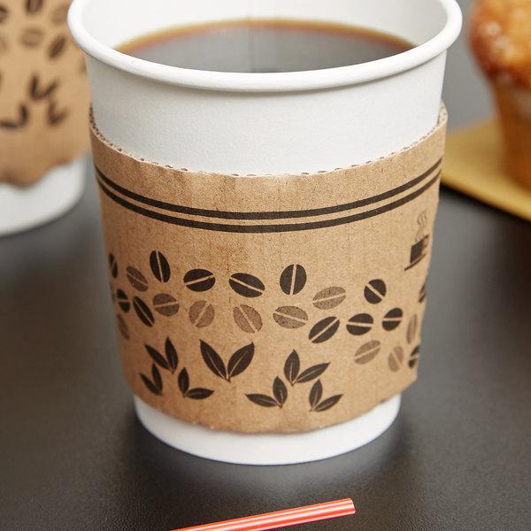 Choice 8 oz. Printed Coffee Cup Sleeve / Jacket / Clutch - 50/Pack Main Image 3