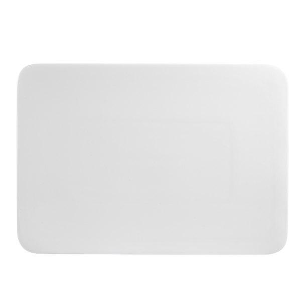 "CAC SF-RT14 Sunrise Bone White 14"" X 9 3/4"" Rectangular Platter - 12/Case"