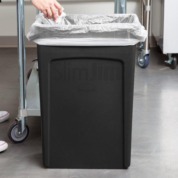 Rubbermaid FG354060BLA 23 Gallon Slim Jim Black Trash Can