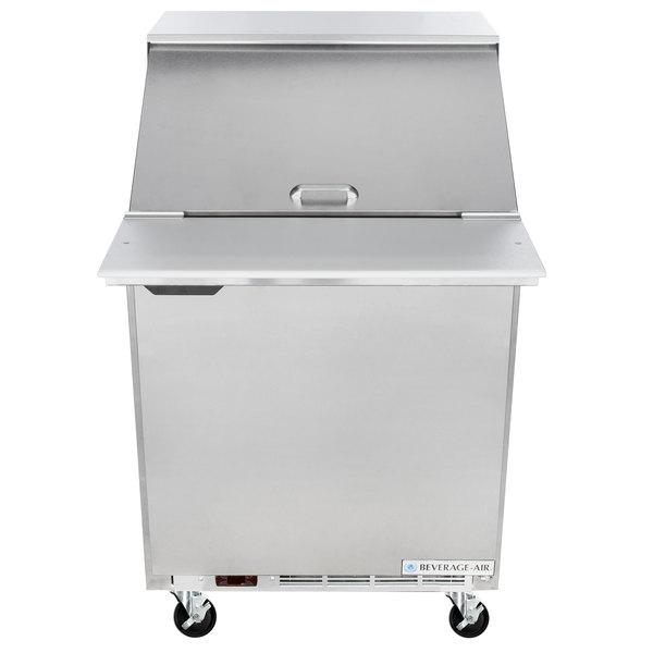 """Beverage-Air SPE27HC-12M-B Elite Series 27"""" 1 Door Mega Top Refrigerated Sandwich Prep Table"""