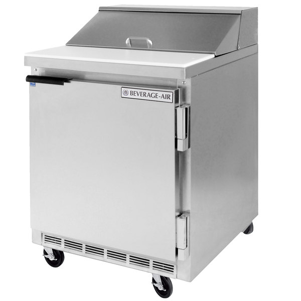 Beverage Air SPE27-12M-B 27 inch Mega Top Refrigerated Salad / Sandwich Prep Table