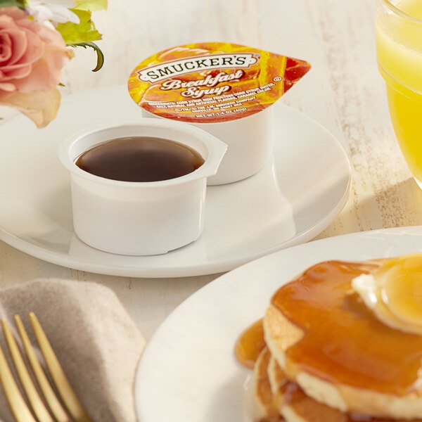Smucker's Breakfast Syrup 1.4 oz. Portion Cup - 100/Case Main Image 2