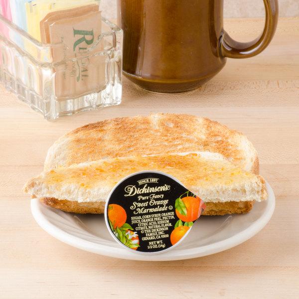 Dickinson's Pure Fancy Sweet Orange Marmalade .5 oz. Portion Cups - 200/Case Main Image 5