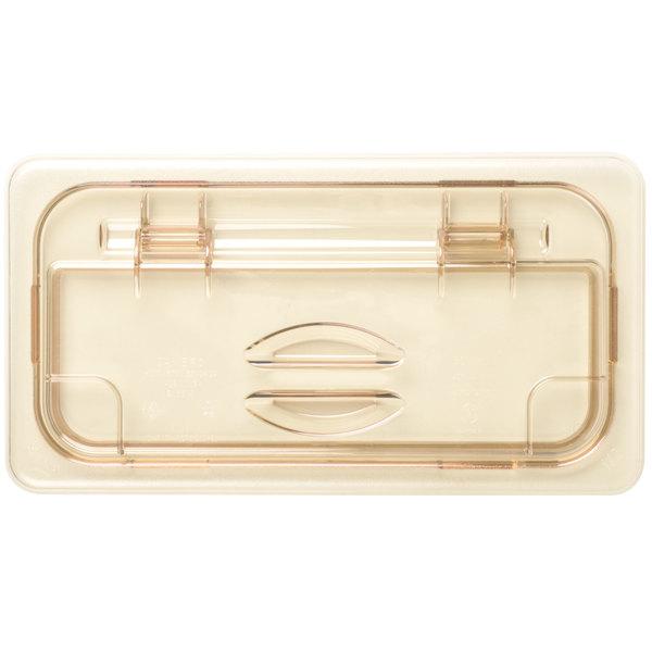 Cambro 30HPL150 H-Pan™ 1/3 Size Amber High Heat FlipLid