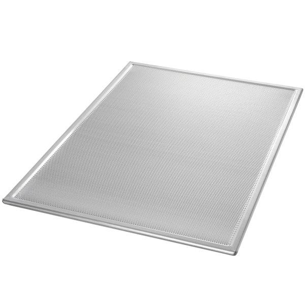 "Chicago Metallic 44800 Perforated Full Size 16 Gauge Glazed Aluminum Customizable Baking Screen - Seamless Corners, 18"" x 26"""
