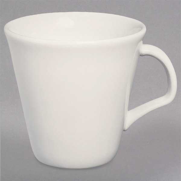 Homer Laughlin HL12022100 8.5 oz. RE-21 Ivory (American White) Tall Cup - 36/Case Main Image 1