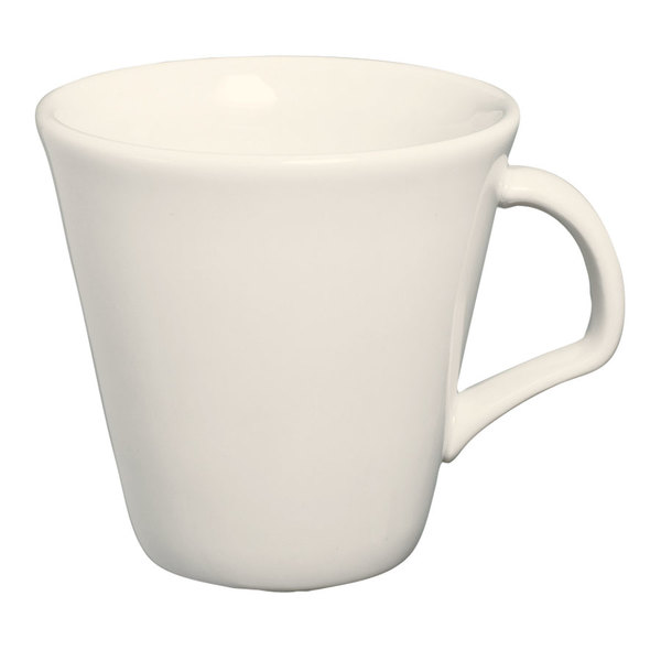 Homer Laughlin 12022100 8.5 oz. RE-21 Ivory (American White) Tall Cup - 36/Case