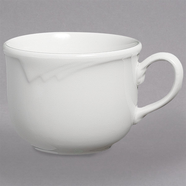 Homer Laughlin 7926500 Milford 7 oz. Ameriwhite Low Cup - 36/Case
