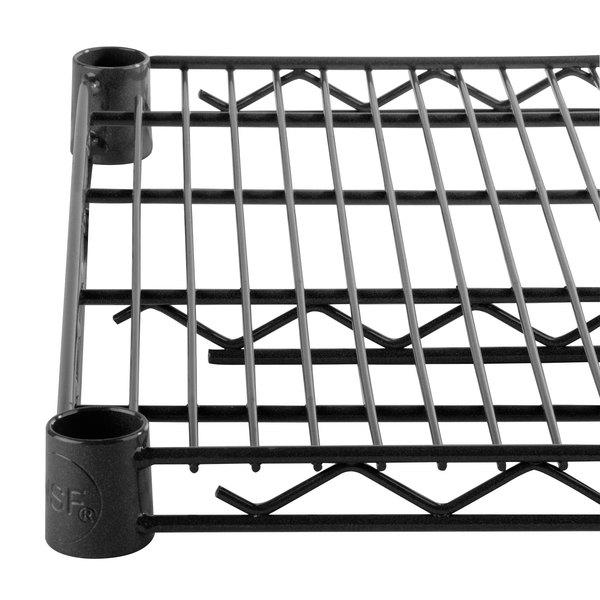 """Regency 14"""" x 30"""" NSF Black Epoxy Wire Shelf"""
