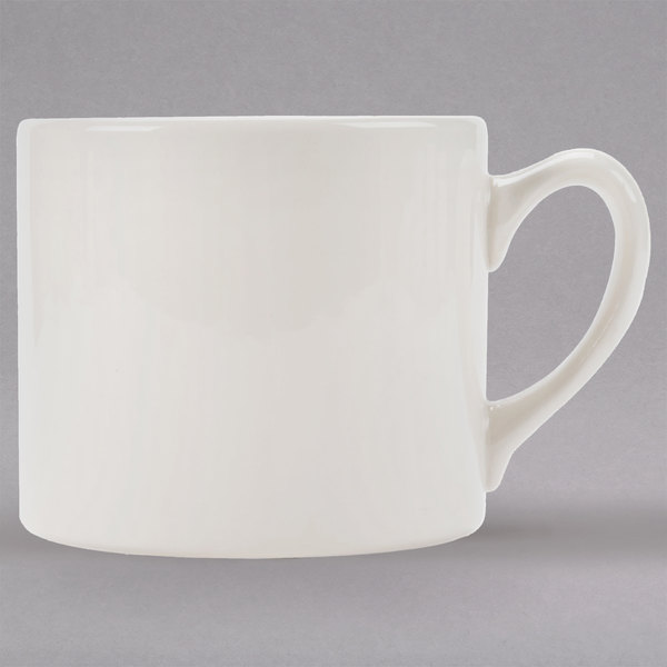 Homer Laughlin 13400 15 oz. Ivory (American White) Market Street Jumbo China Cup - 36/Case