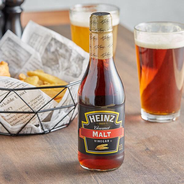 Heinz 12 oz. Gourmet Malt Vinegar - 12/Case Main Image 2