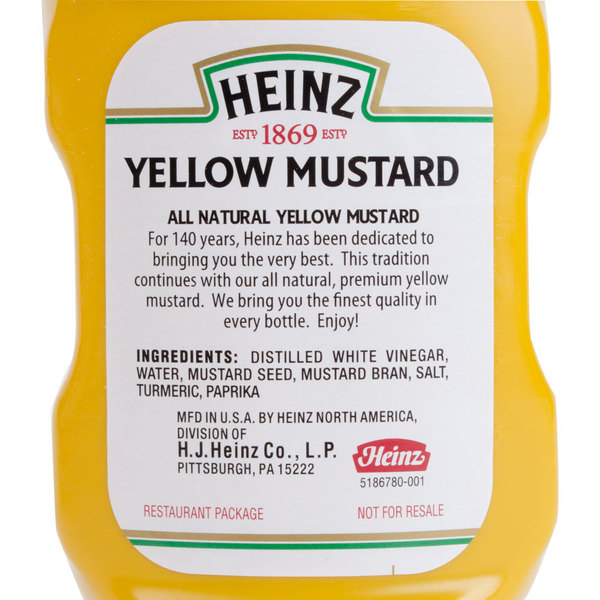 Heinz Yellow Mustard 13 oz. Upside Down Squeeze Bottle