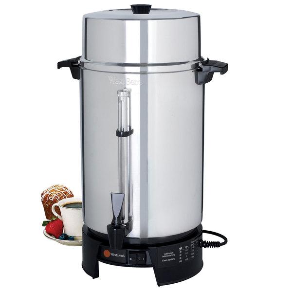 West Bend 58010v Commercial 100 Cup Aluminum Coffee Maker 220v International Use Only
