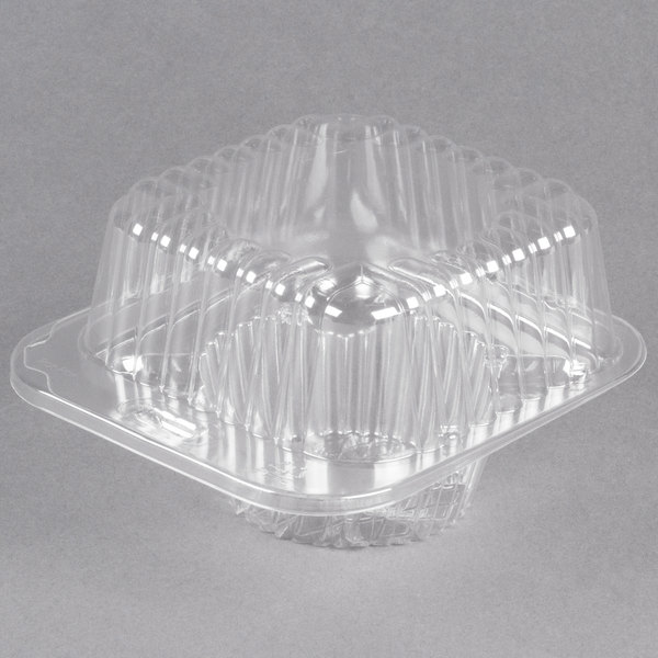 Polar Pak 2409 1 Compartment Clear Muffin Takeout Container - 400/Case
