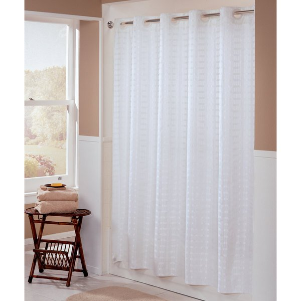 Hookless HBH43LIT01 White Litchfield Shower Curtain With Matching