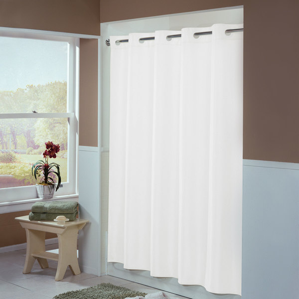 Hookless Hbh44eng01x White Englewood Shower Curtain With