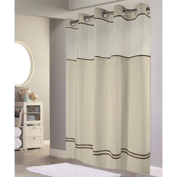HBH40ES221 Sand with Brown Stripe Escape Shower Curtain with ...