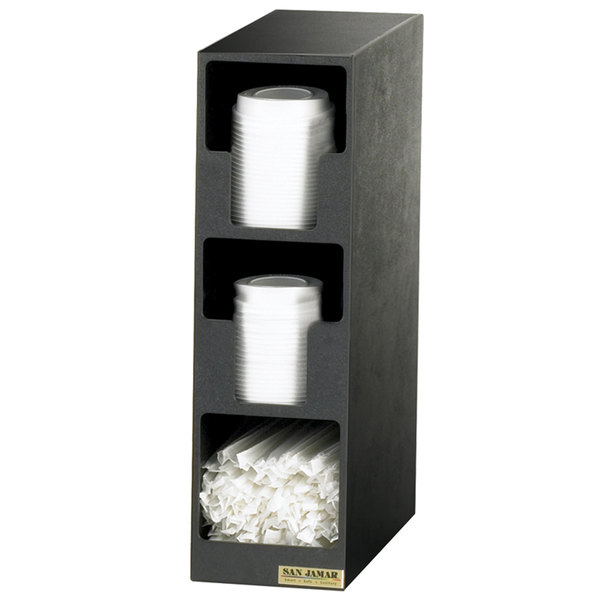 San Jamar L2202 3 Compartment Lid Organizer Tower