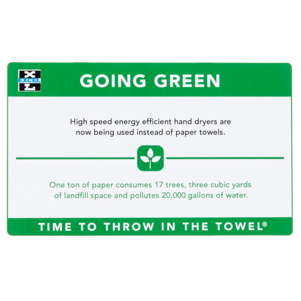 "Excel 676 ""Going Green"" Hand Dryer Sign Main Image 1"