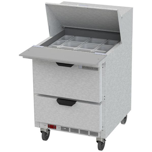 "Beverage-Air SPED27HC-12M Elite Series 27"" 2 Drawer Mega Top Refrigerated Sandwich Prep Table"