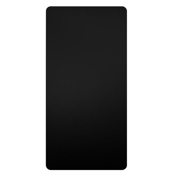 Excel 89B XLERATOR® Black Antimicrobial Wall Guard for Hand Dryers - 2/Pack Main Image 1