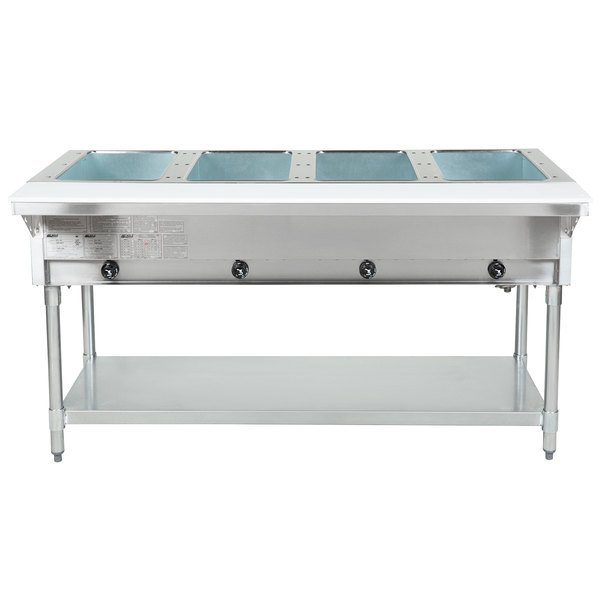 Eagle Group DHT4 Open Well Four Pan Electric Hot Food Table - 208V Main Image 1
