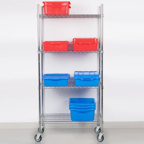"Regency 24"" x 36"" NSF Chrome Shelf Kit with 64"" Posts and Casters"