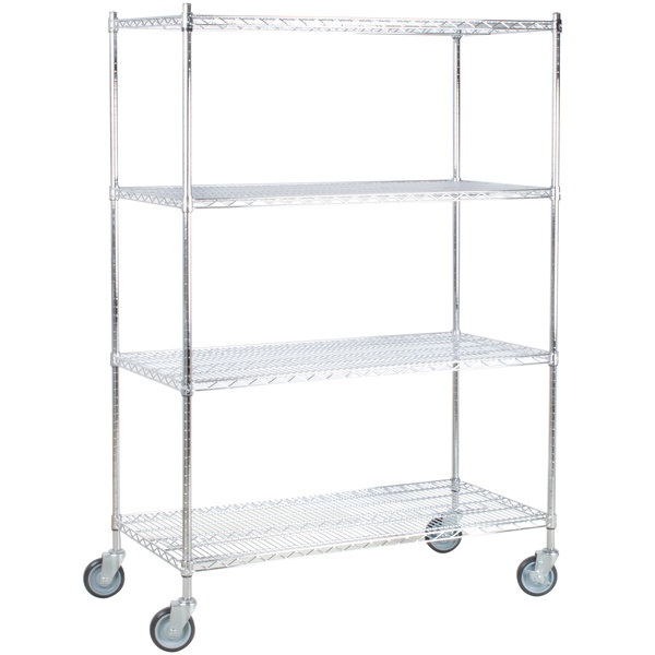 Regency 24 inch x 36 inch NSF Chrome Shelf Kit with 64 inch Posts and Casters