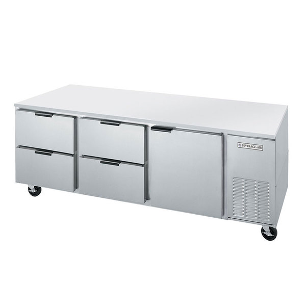 """Beverage-Air UCRD72AHC-4 72"""" Compact Undercounter Refrigerator with 1 Door and 4 Drawers"""