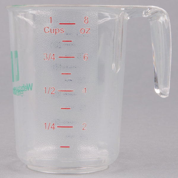 Choice 1 Cup Clear Polycarbonate Measuring Cup